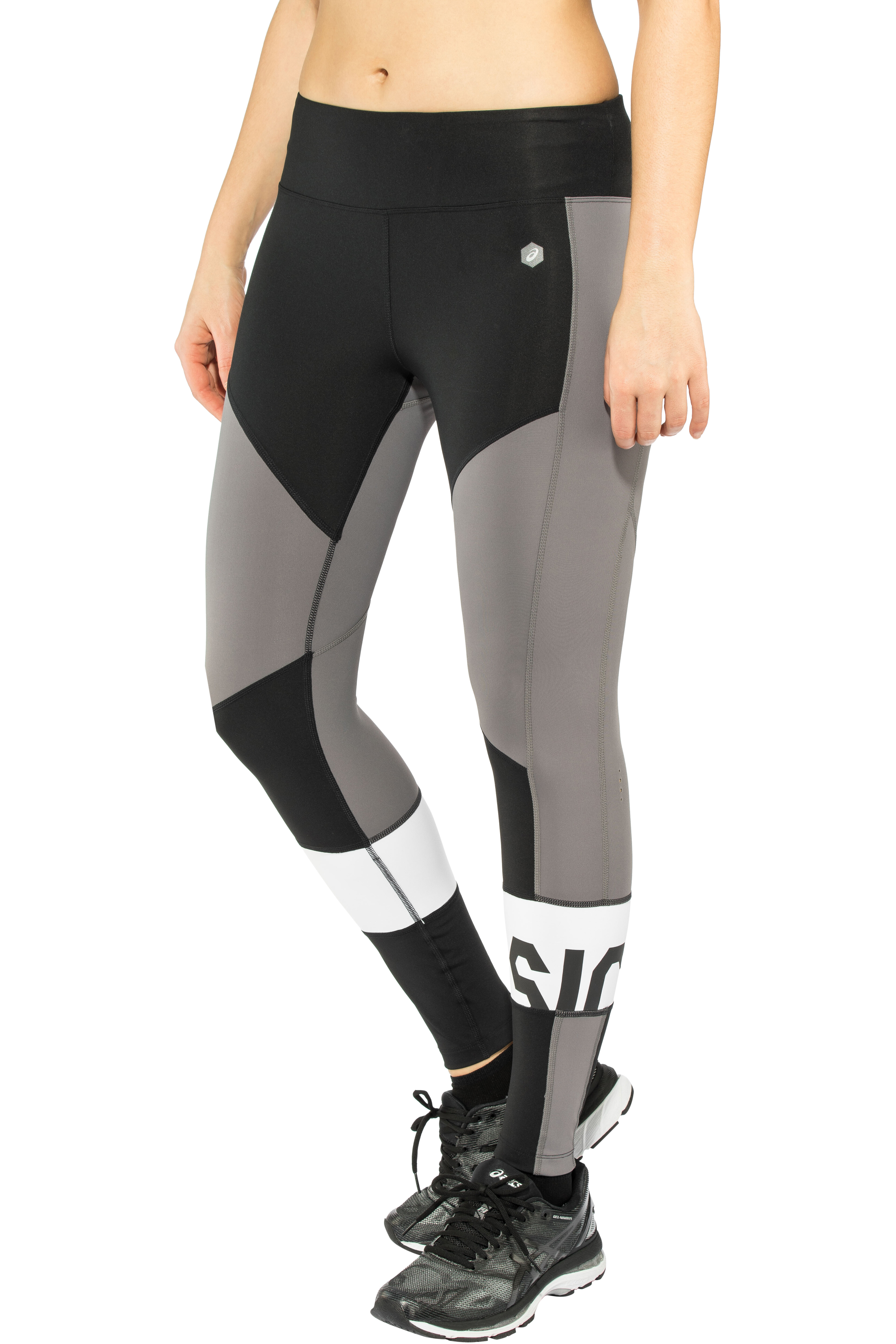 070dfc1ff asics Color Block Cropped Tights 2 Dames, performance black